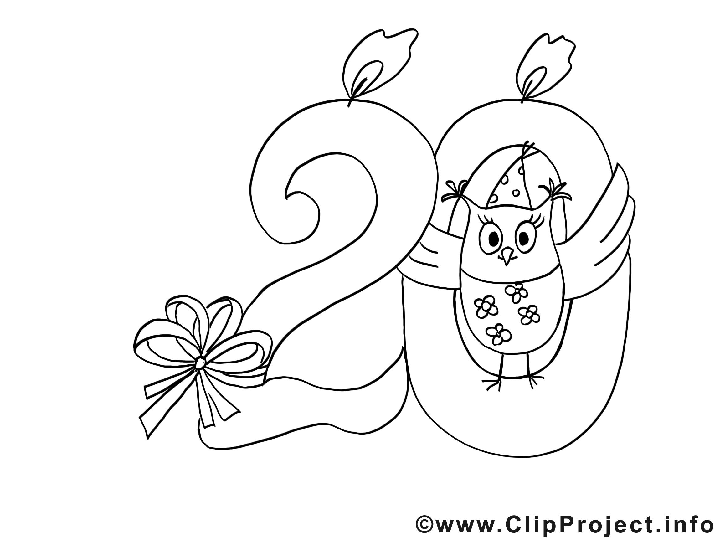 20 ans clipart gratuit invitations colorier invitations coloriages dessin picture image - Dessin anniversaire 20 ans ...