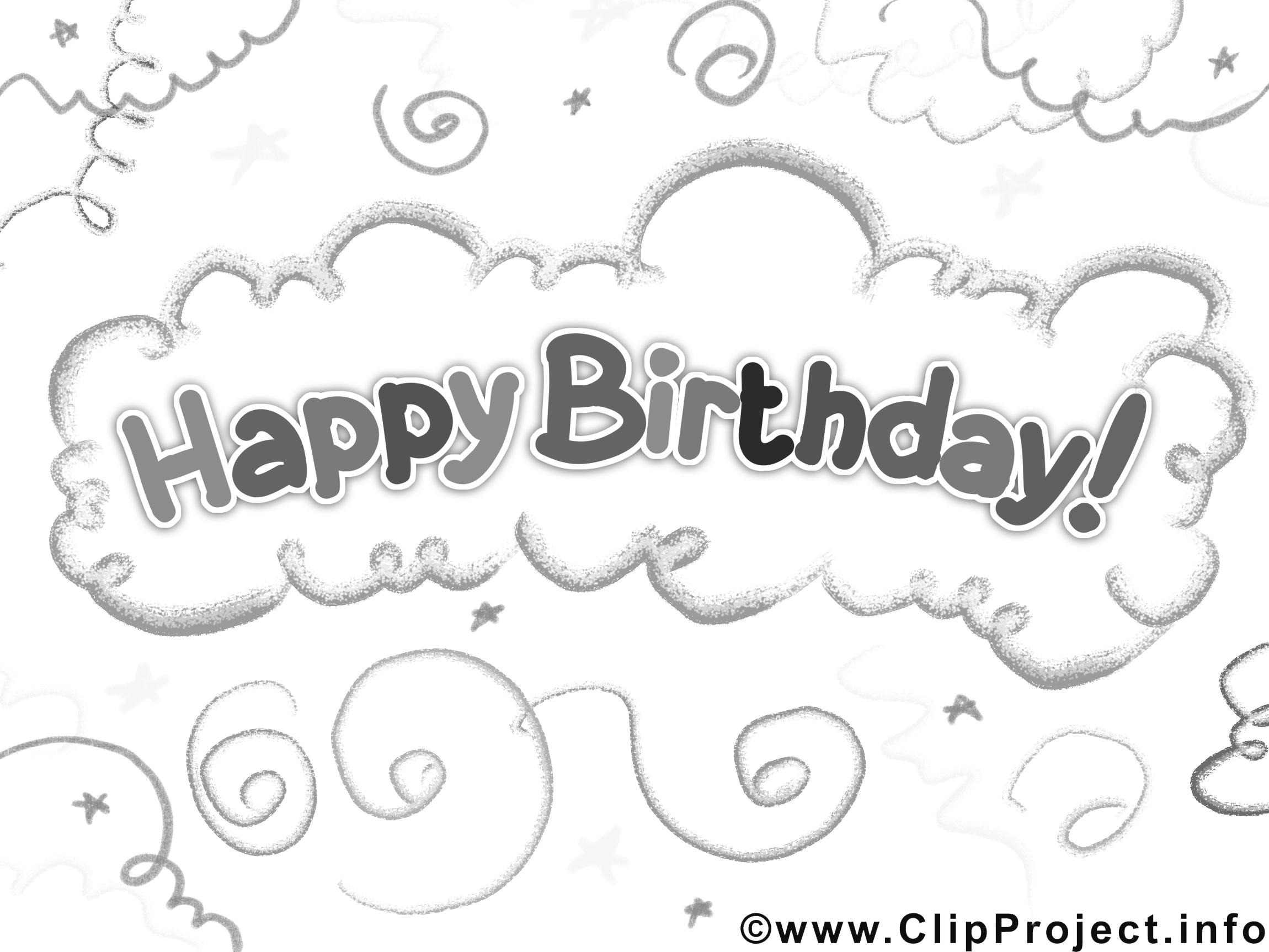 Bon anniversaire dessin gratuit invitations colorier - Joyeux anniversaire a colorier ...