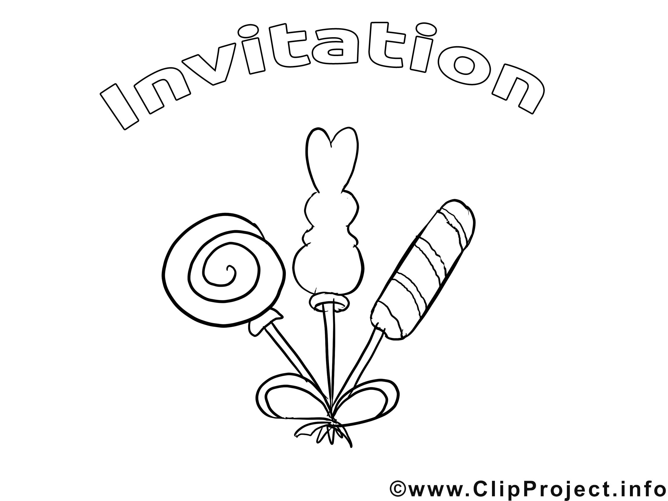 Bonbons Dessin Coloriage Invitations A Telecharger Invitations