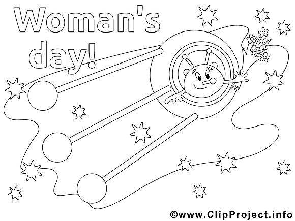 Cosmos dessin – Journée des femmes gratuits à imprimer