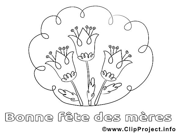 Illustration fleurs – Journée des femmes à colorier