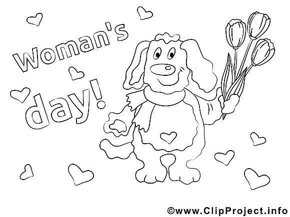 Tulipes images– Journée des femmes à colorier