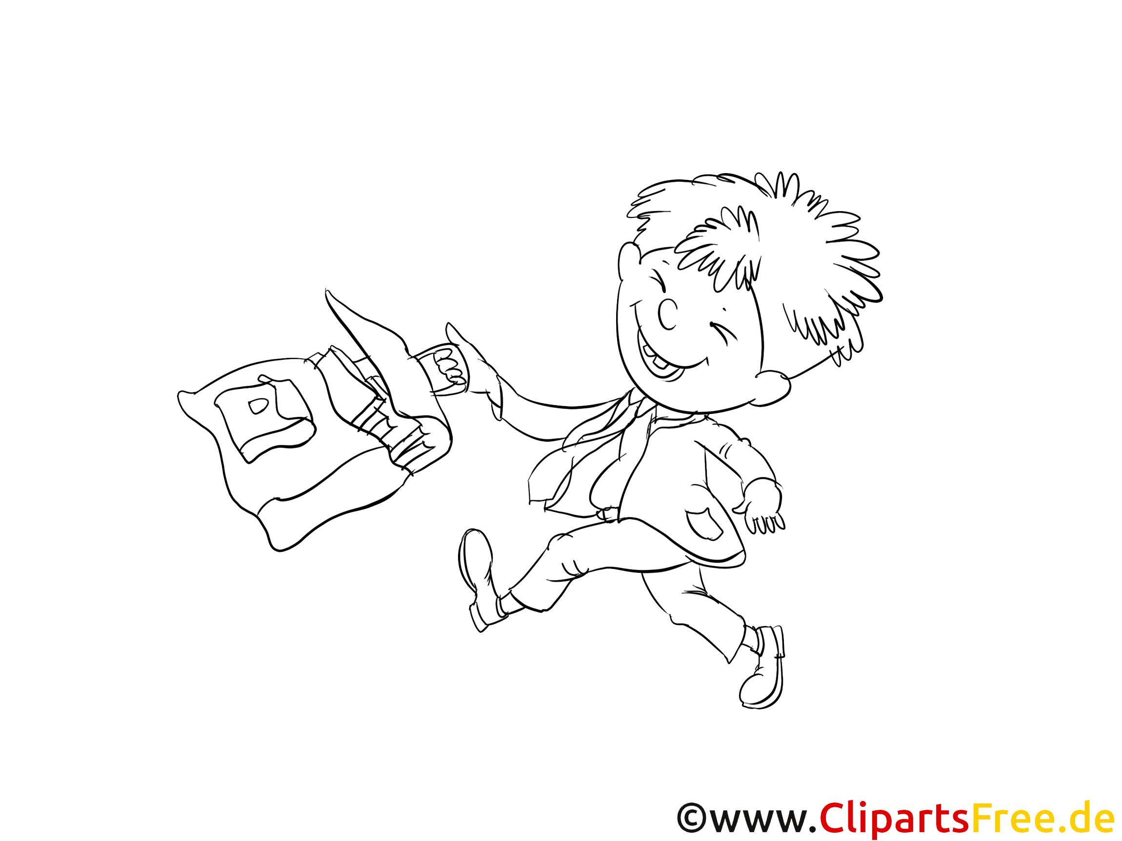 Gar on cartable images cole gratuits imprimer l - Clipart cartable ...