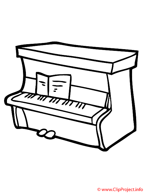 Piano coloriage l 39 cole coloriages dessin picture image graphic clip art t l charger gratuit - Coloriage piano ...