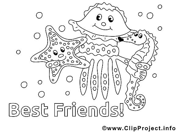 Amis dessin à télécharger – Maternelle à colorier
