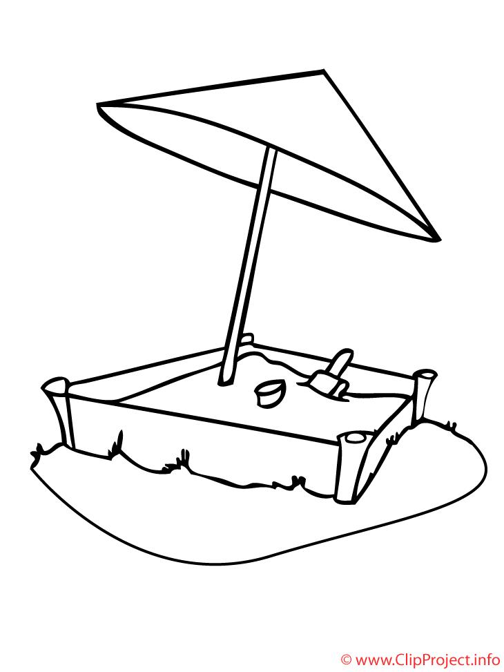 Bac à sable illustration – Maternelle à imprimer