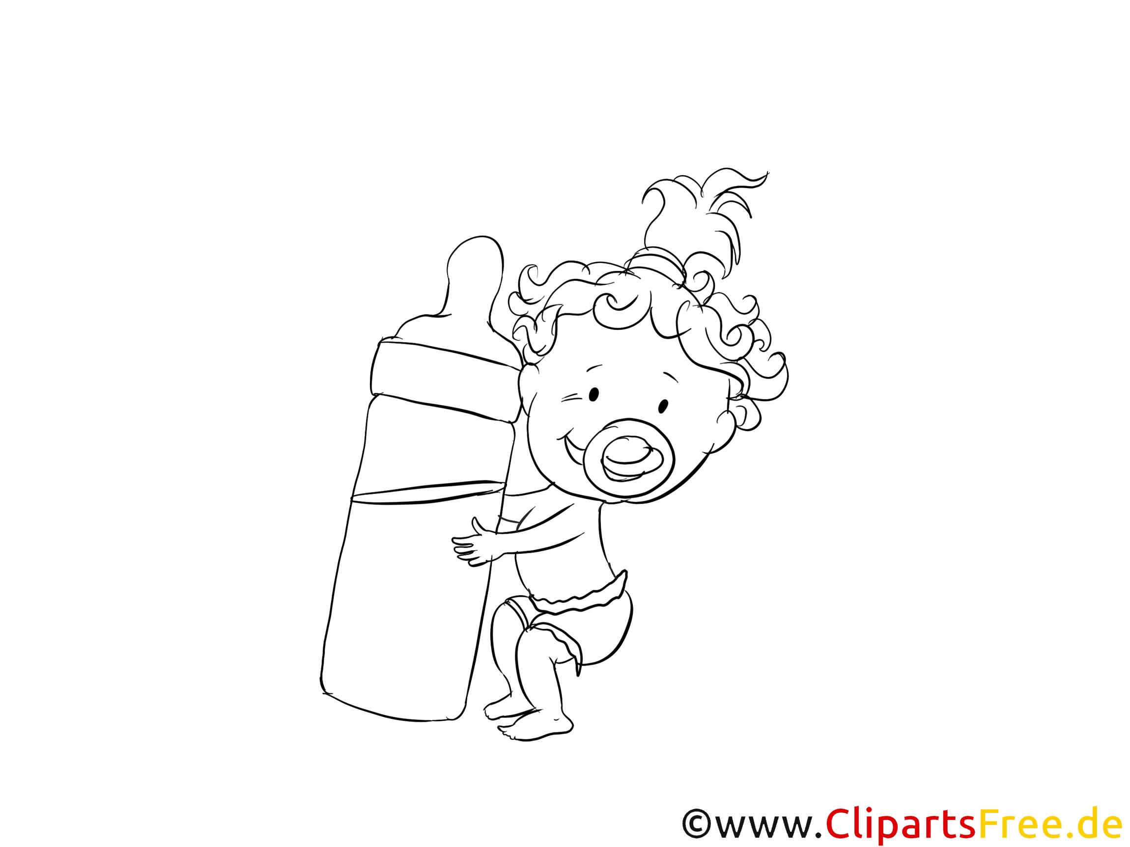 Bébé dessin à télécharger – Maternelle à colorier