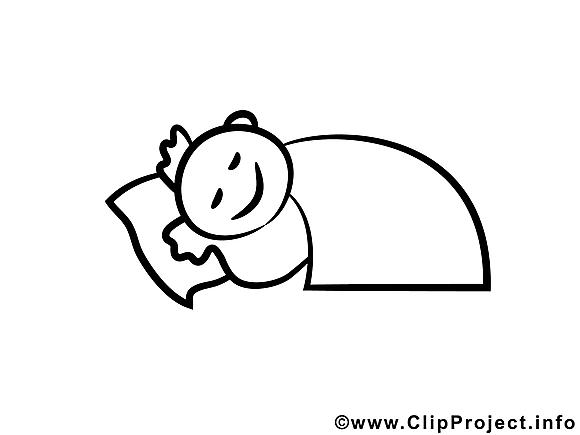 Bonne nuit illustration – Maternelle à colorier