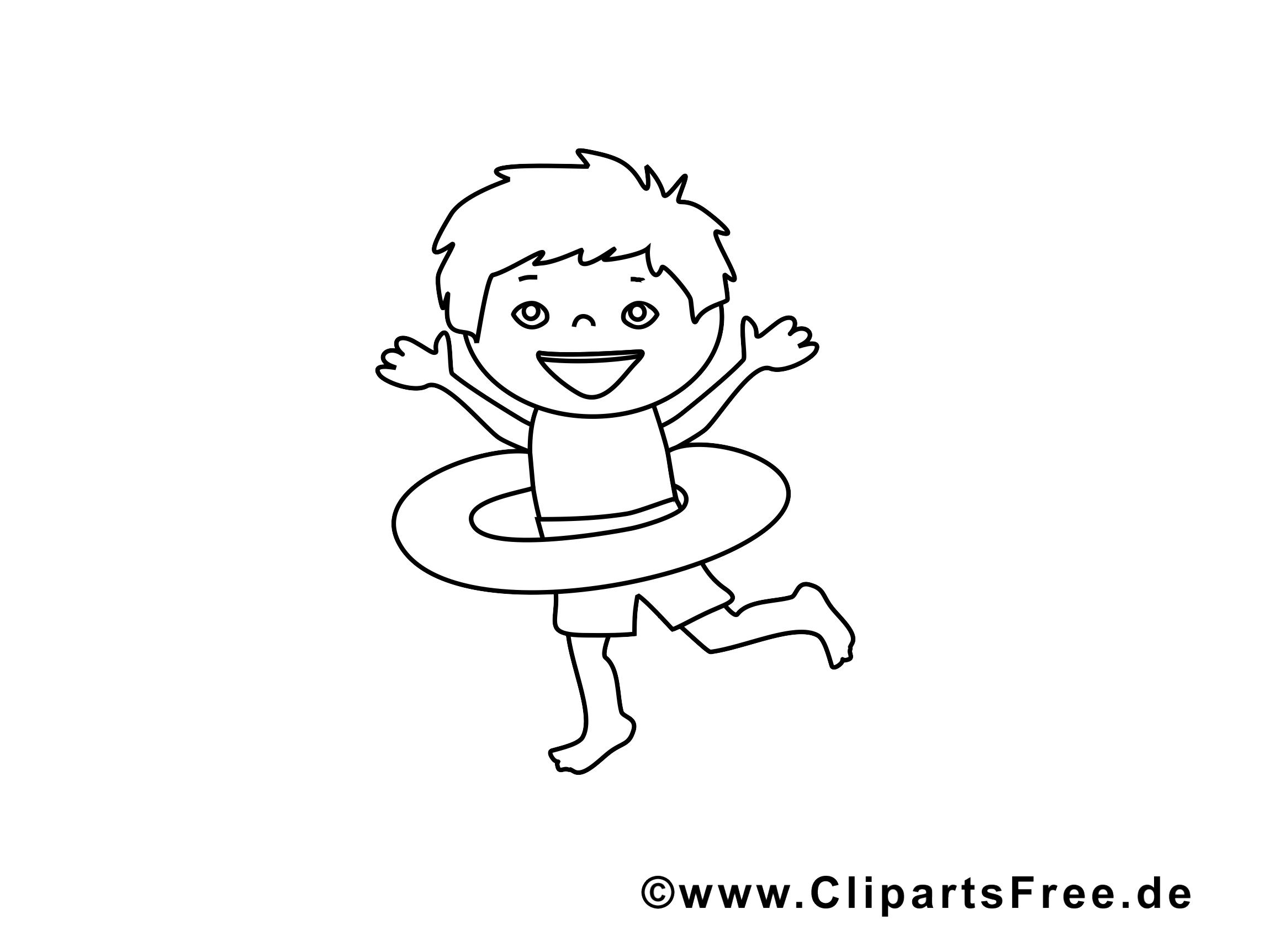 Bouée illustration – Coloriage maternelle cliparts
