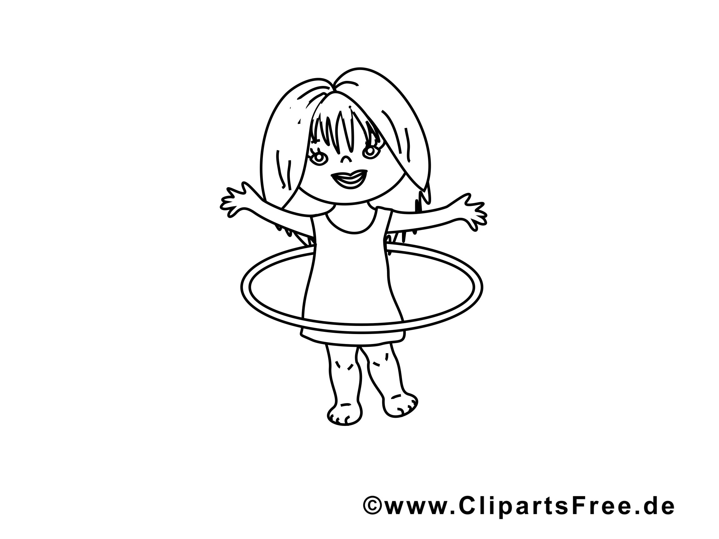 Cerceau image – Maternelle images à colorier