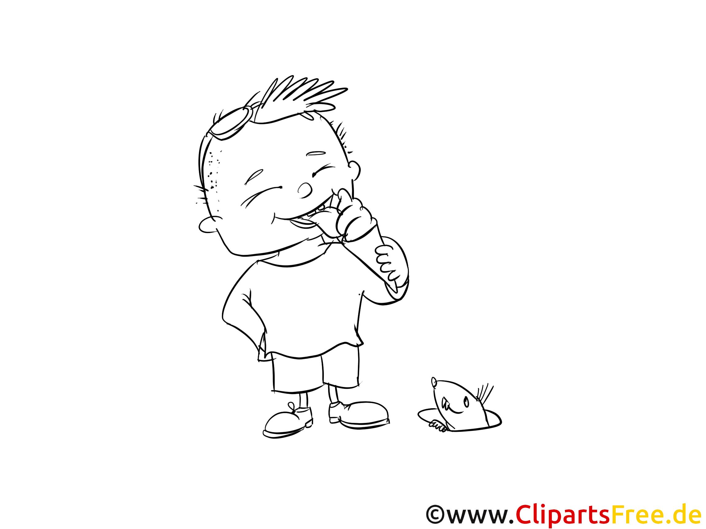 Coloriage garçon maternelle image à télécharger