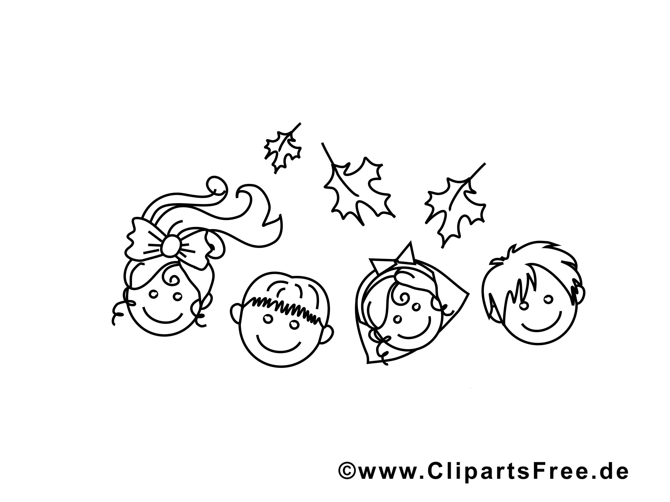 Enfants illustration – Maternelle à colorier