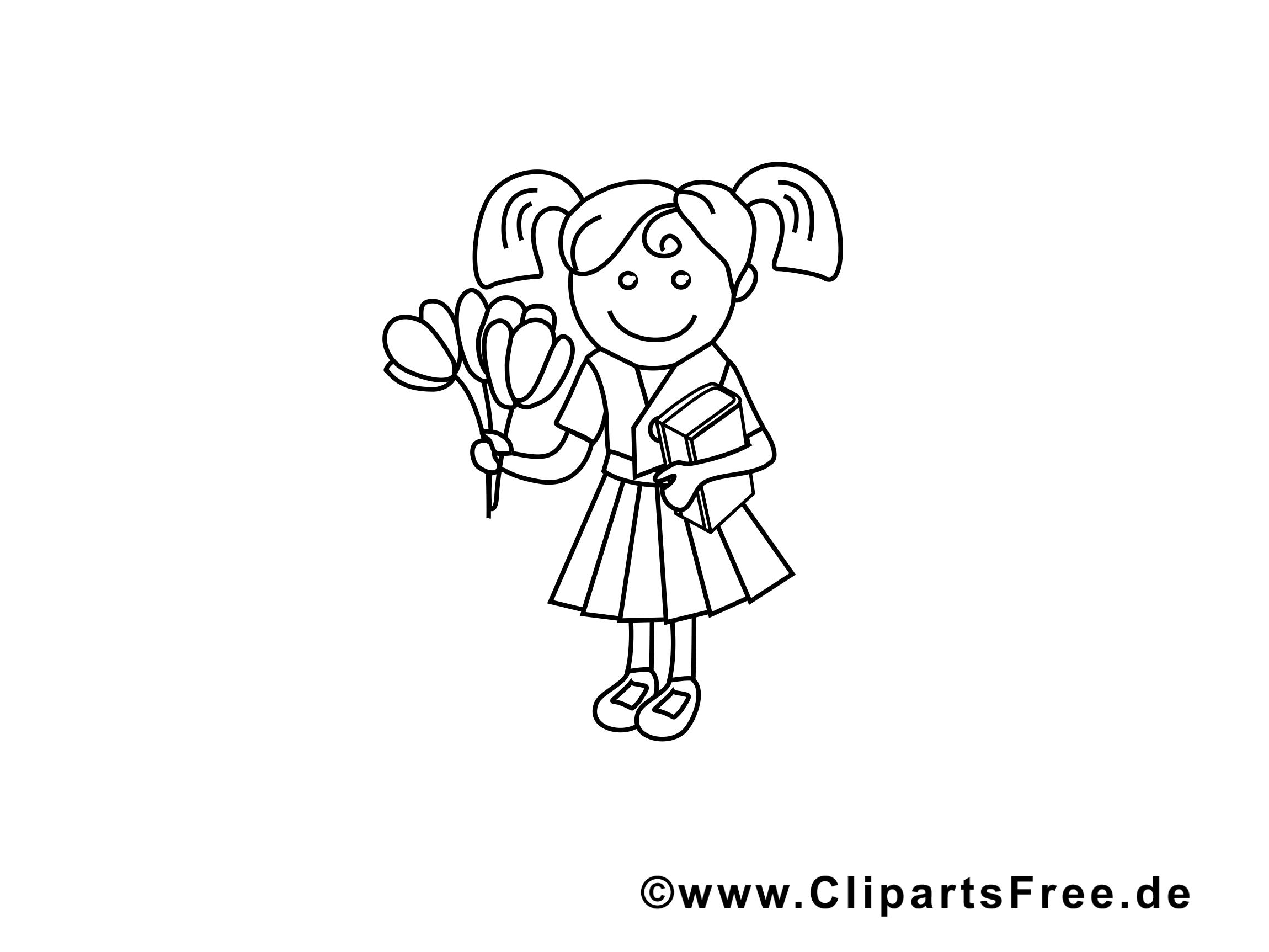 Fleurs clip arts – Maternelle à imprimer