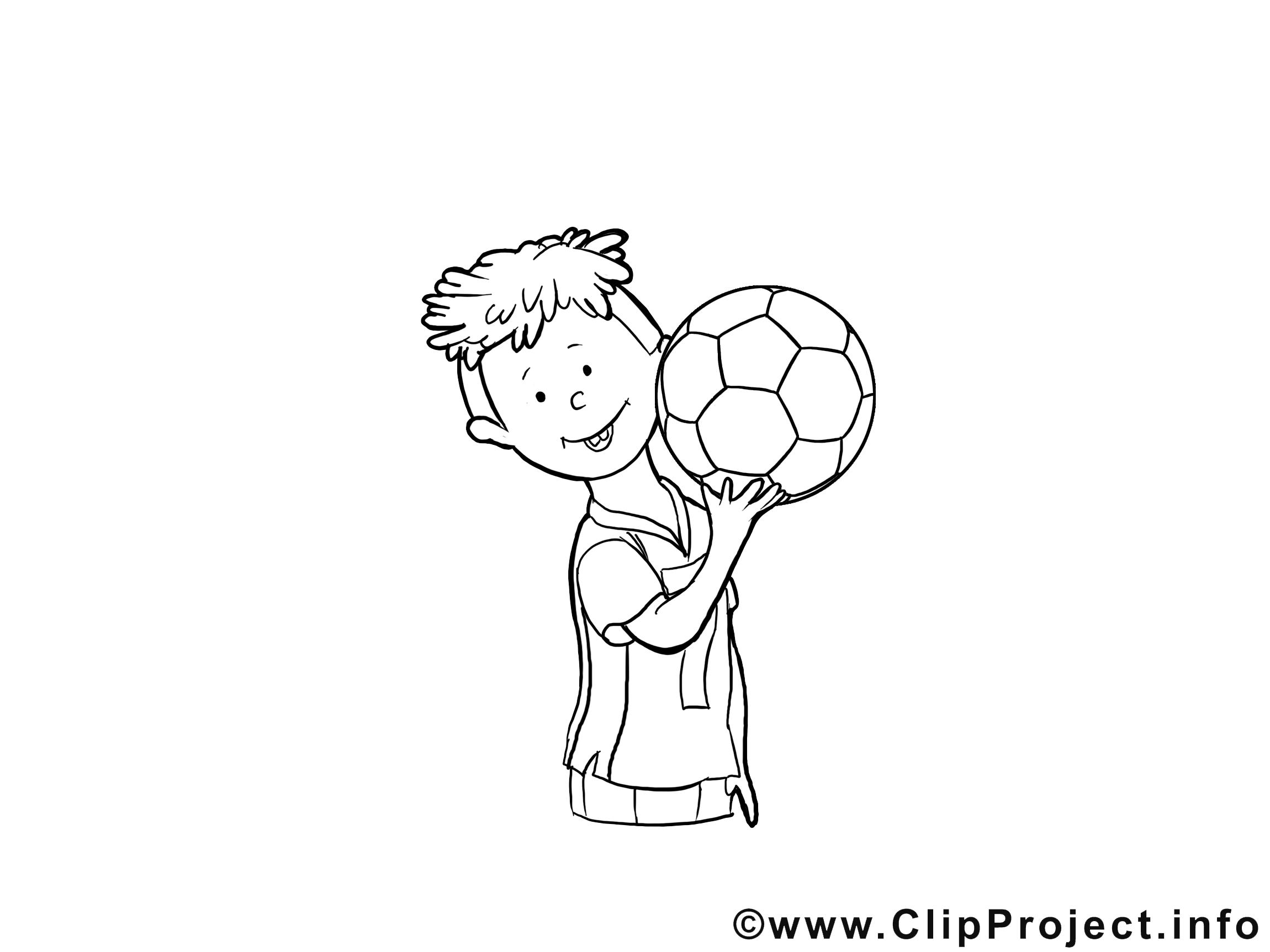 Football clipart gratuit – Maternelle à colorier
