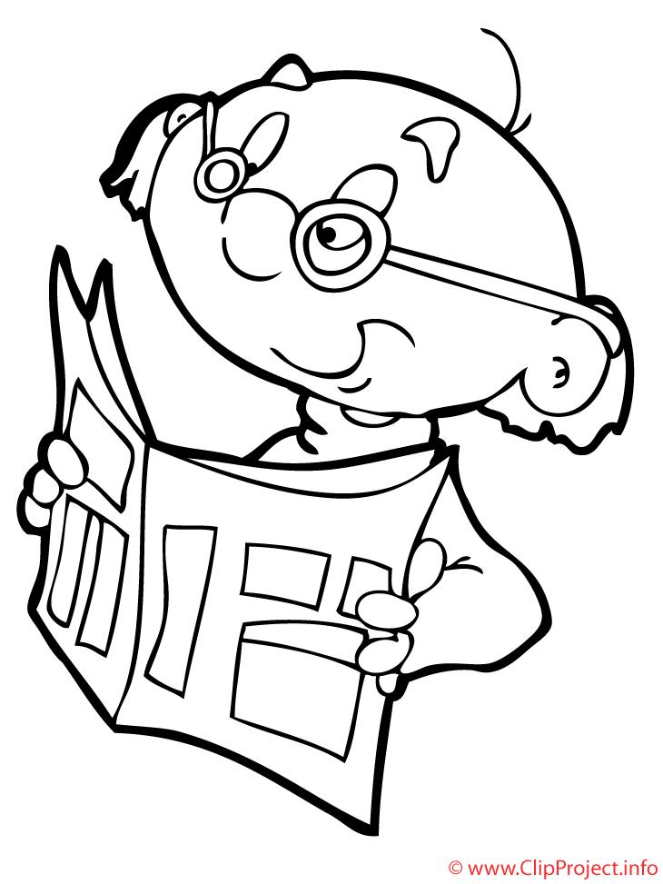 Journal dessin gratuit – Maternelle à colorier