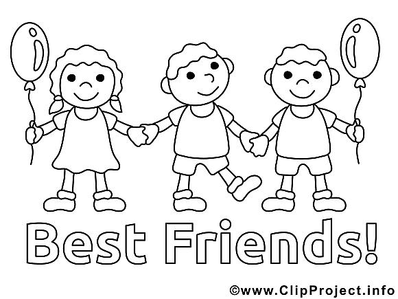 Meilleurs amis clip arts – Maternelle à imprimer