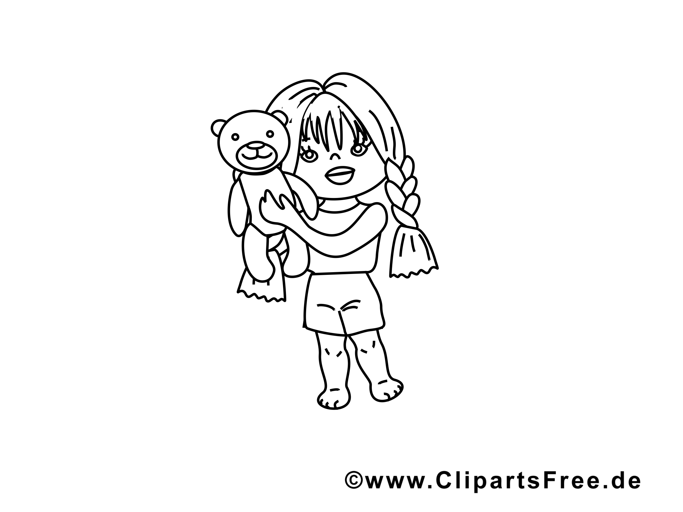Ours en peluche image gratuite – Maternelle à colorier