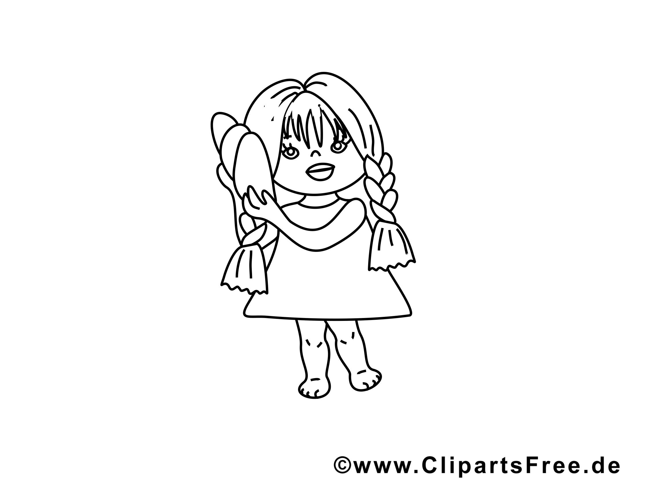 Petite fille images – Maternelle gratuits à imprimer