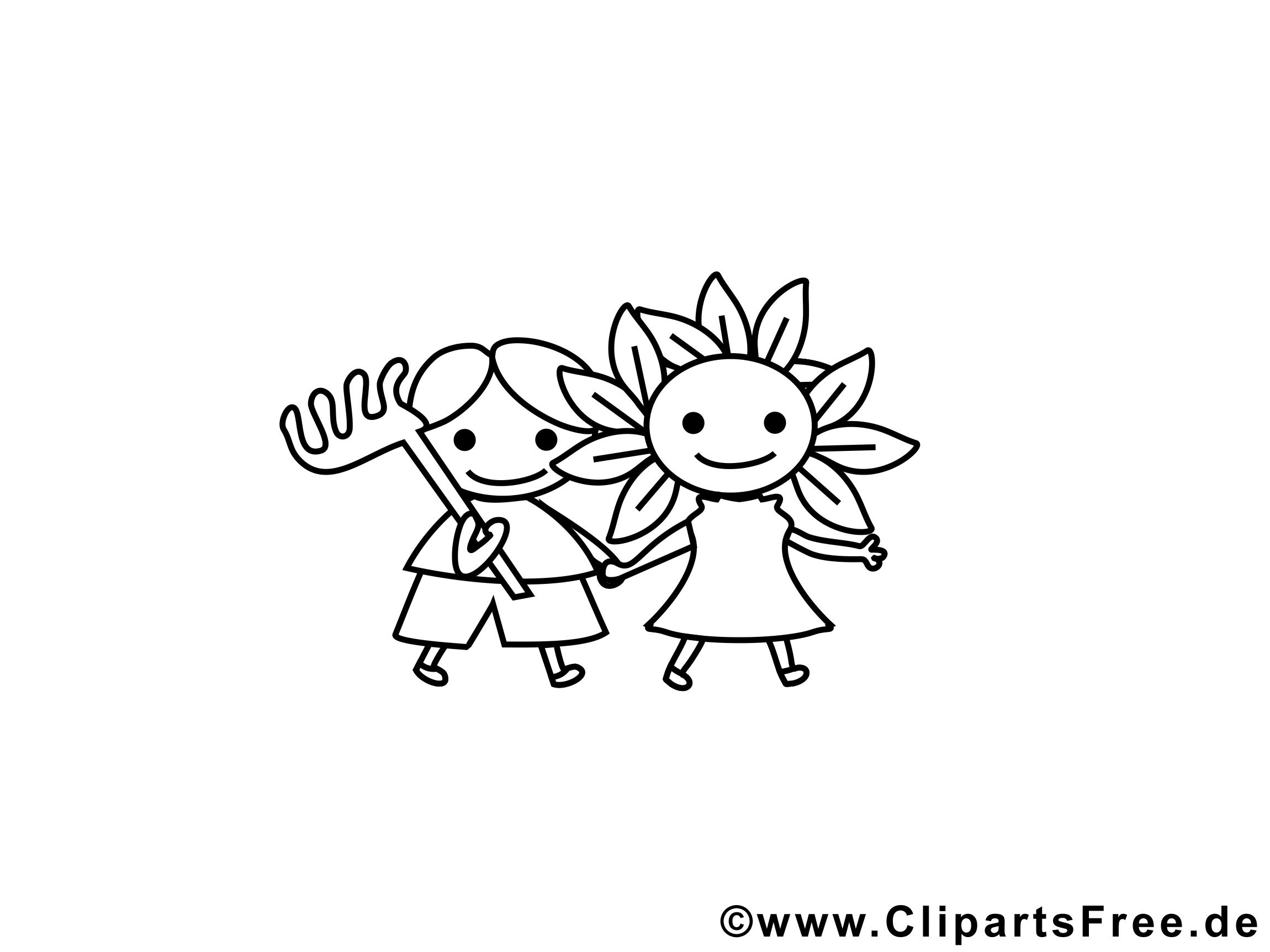 Petits jardiniers dessins gratuits – Maternelle à colorier
