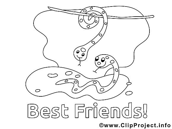 Serpents clip art gratuit – Maternelle à colorier