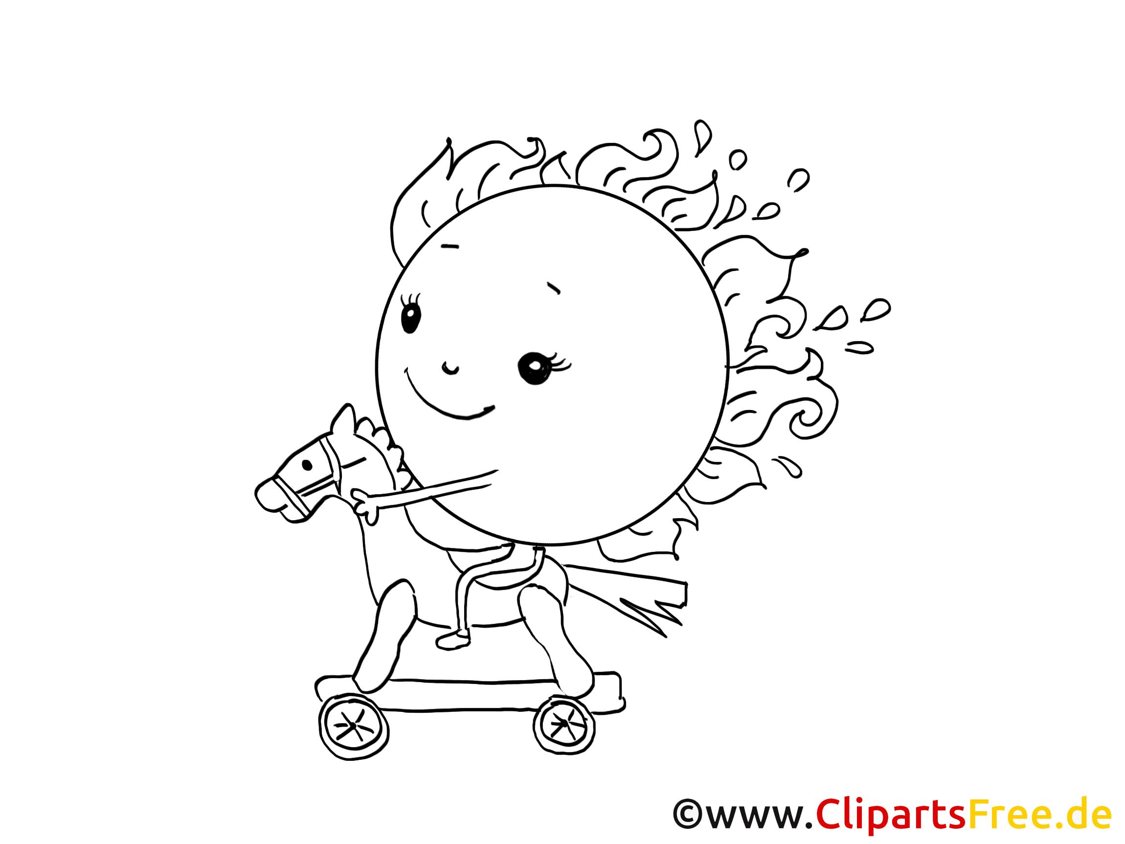 Soleil illustration – Maternelle à imprimer