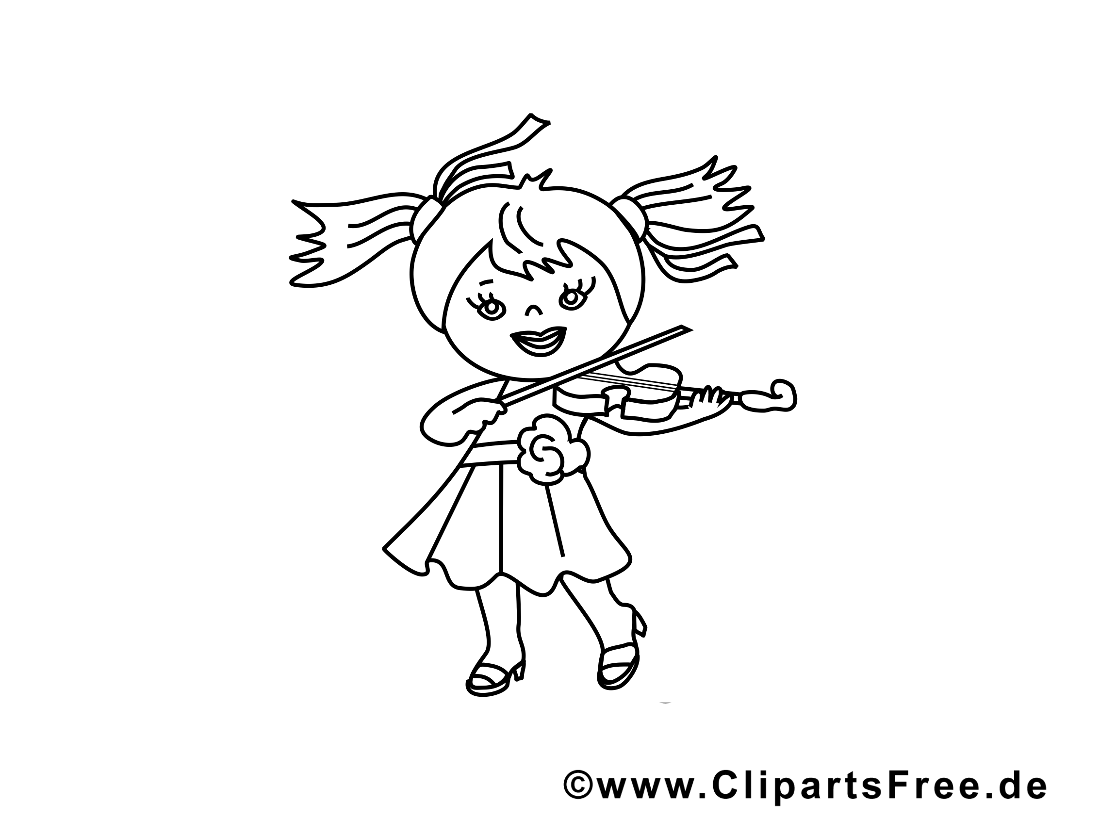 Violon illustration – Coloriage maternelle cliparts