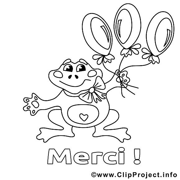 grenouille clip art gratuit  merci à colorier  merci