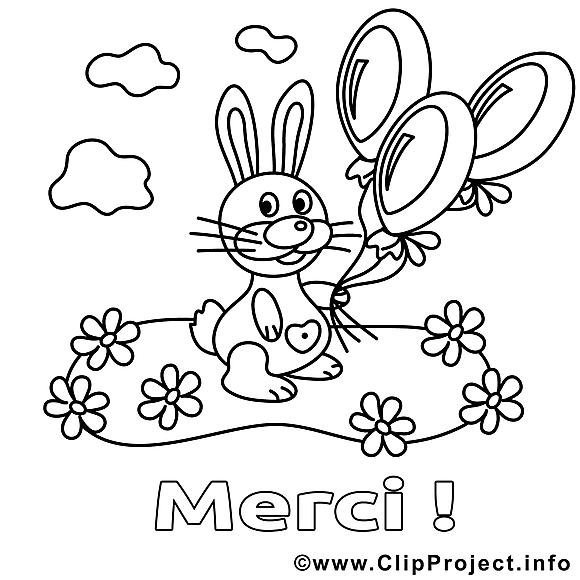 Lapin image gratuite merci imprimer merci coloriages - Image lapin a imprimer ...
