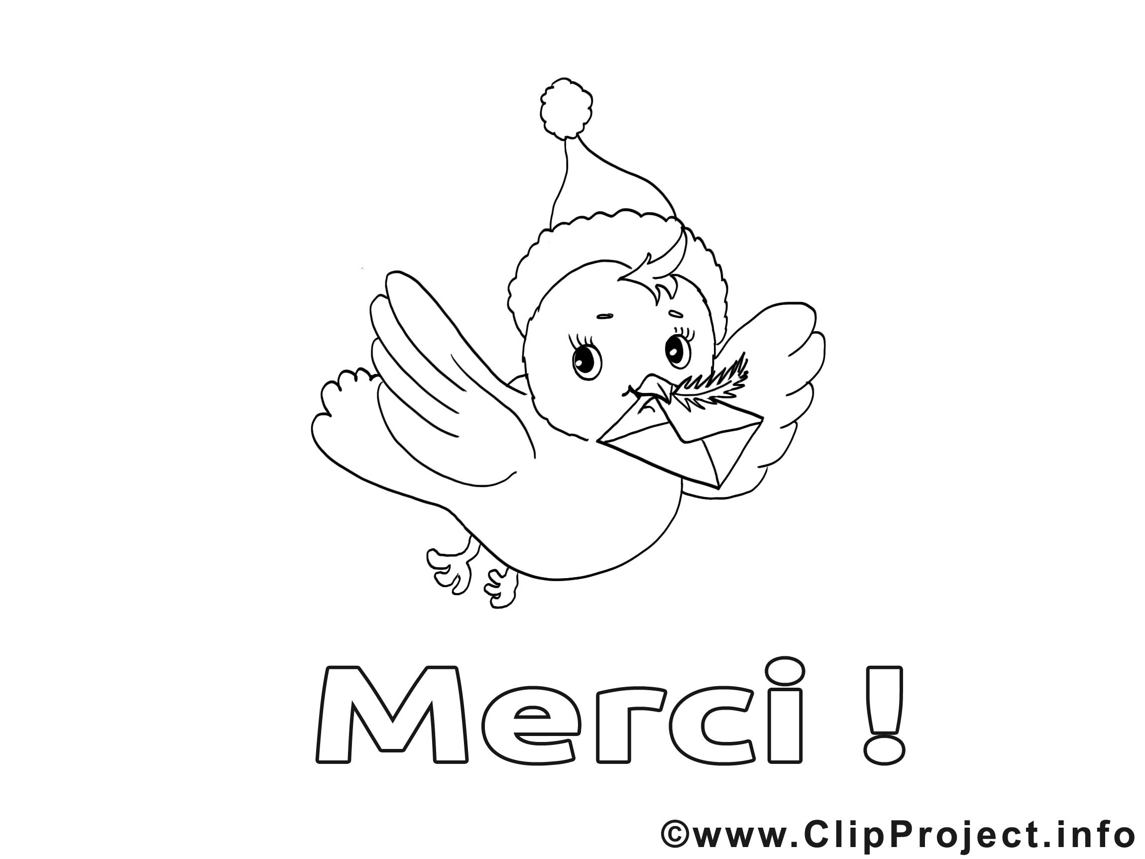 Oiseeau dessin – Coloriage merci à télécharger   Merci coloriages ...