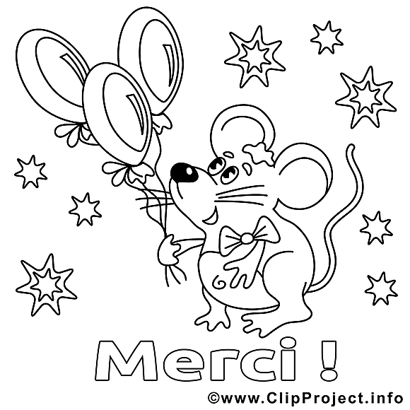 Souris clipart merci dessins colorier merci coloriages dessin picture image graphic - Souris a colorier ...