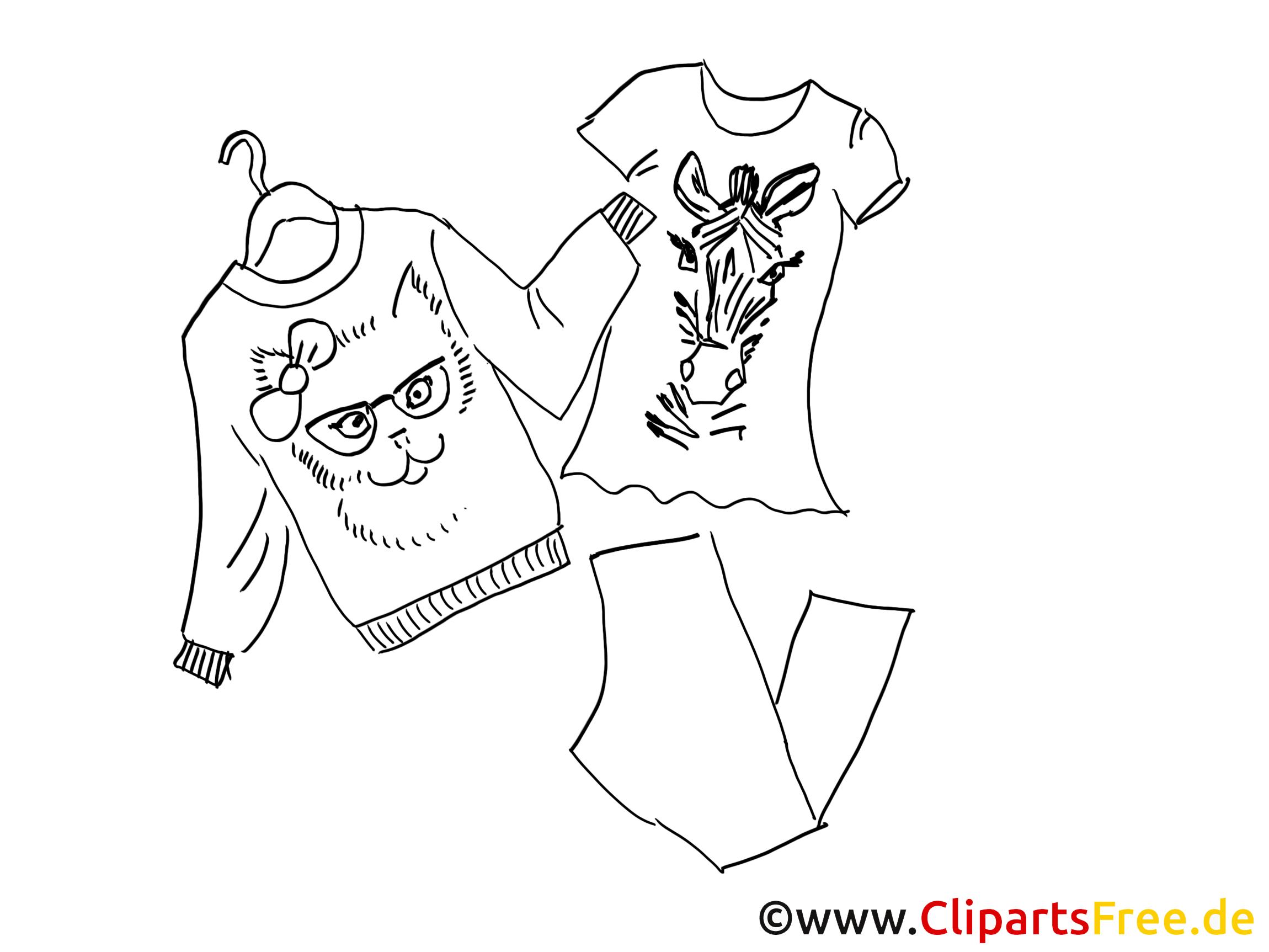 vêtement dessin à télécharger – mode à colorier