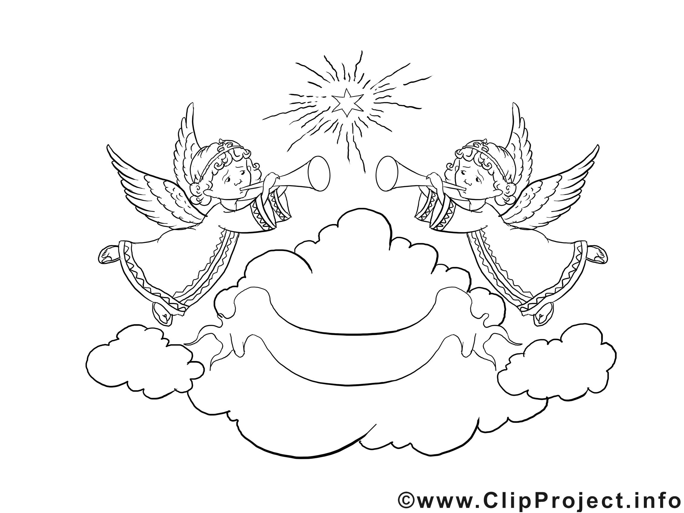 Anges clip art gratuit – Noël à imprimer