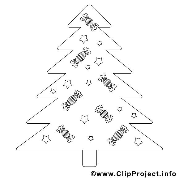 Bonbons clip art gratuit – Noël à imprimer