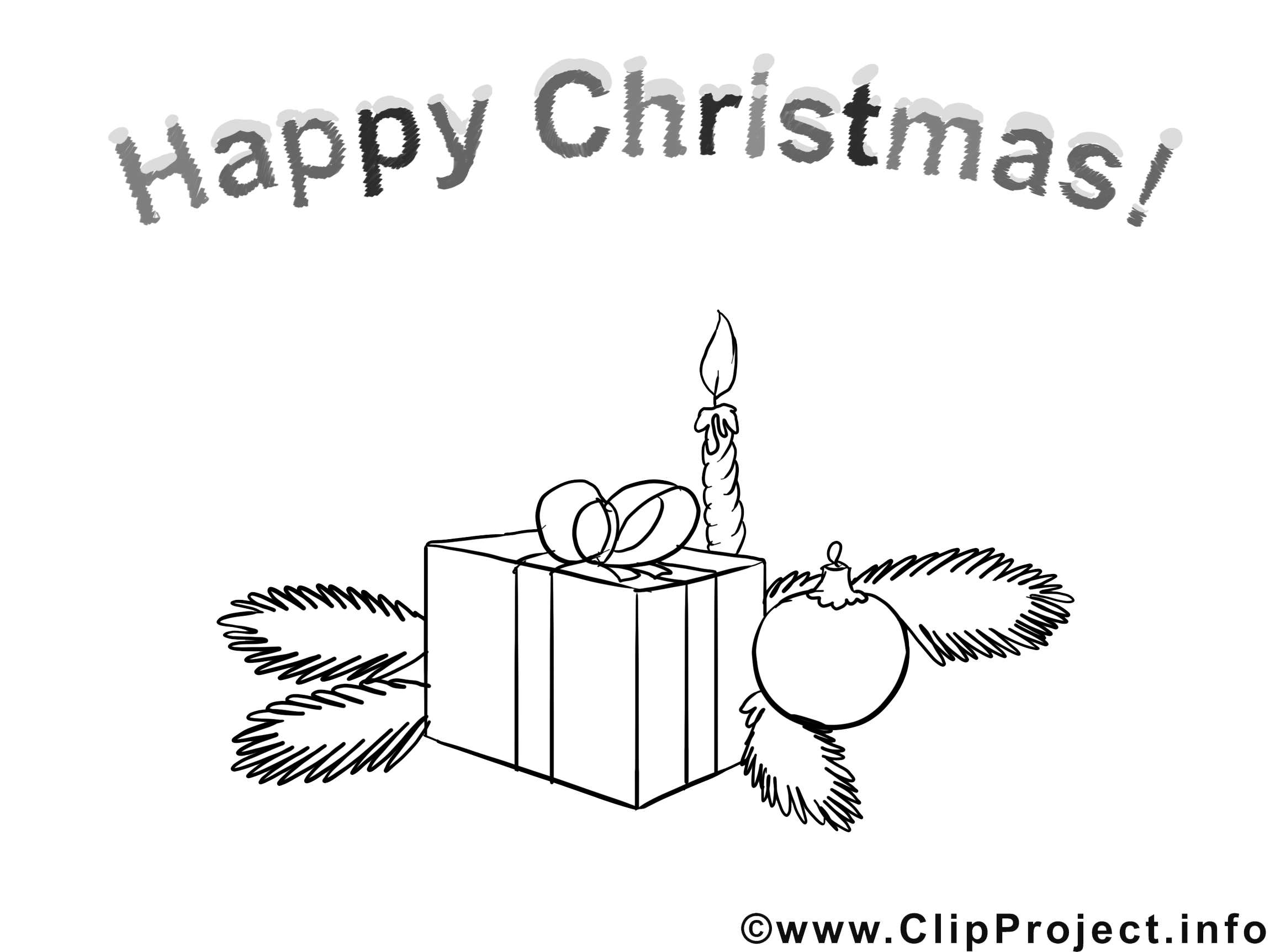 Bougie sapin clipart – Noël dessins à colorier