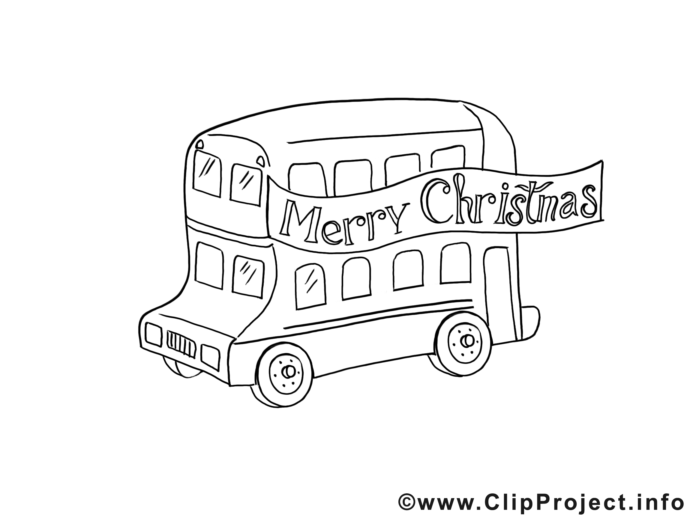 Bus clipart gratuit – No l   colorier