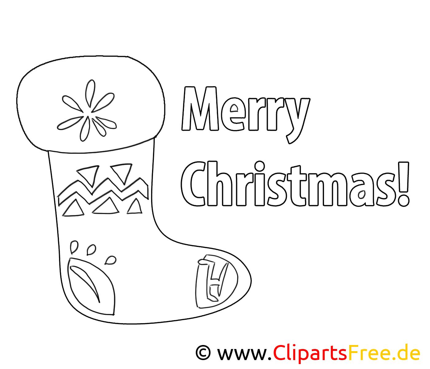 Chaussette images – Noël gratuits à imprimer