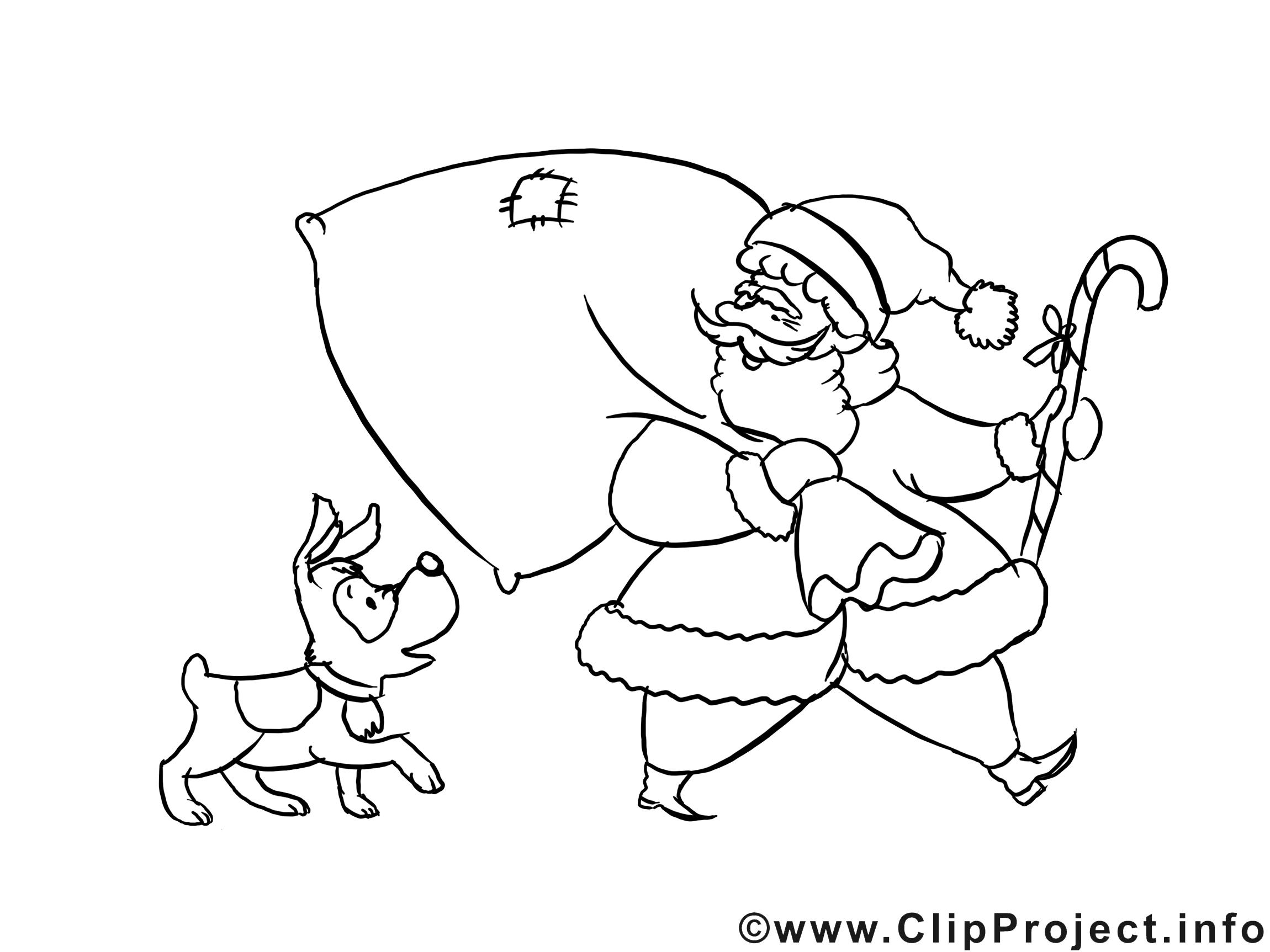 Chien sac illustration – Noël à imprimer