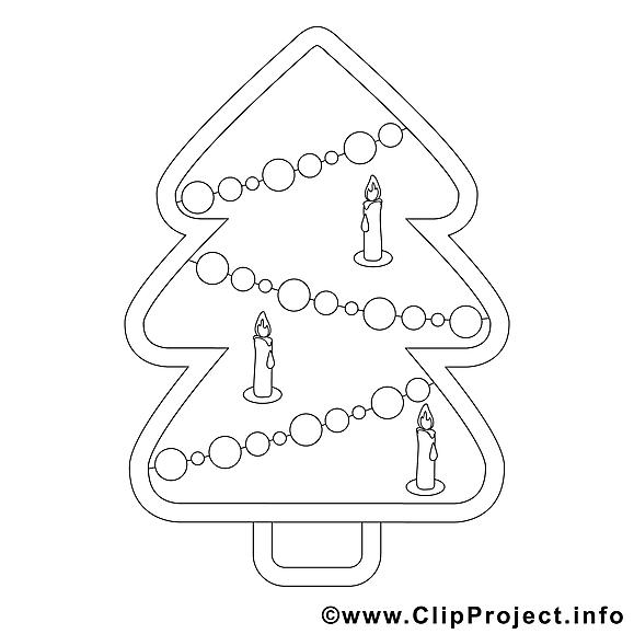 Cliparts gratuis sapin – Noël à imprimer