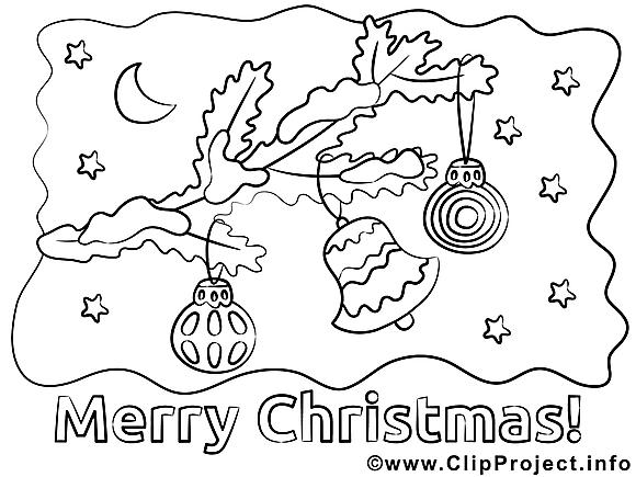 Clochette image – Coloriage Noël illustration