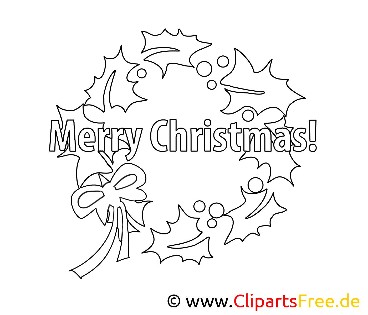 Couronne image – Noel images à colorier