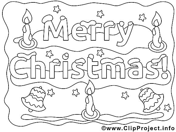 Décoration dessins gratuits – Noël à colorier