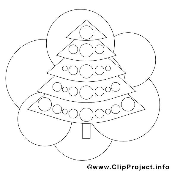 Dessin sapin – Noël gratuits à imprimer