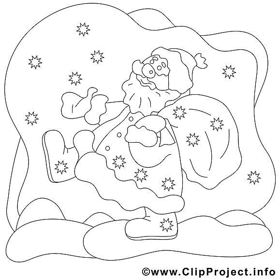 Étoiles nuit clip arts – Noël à imprimer