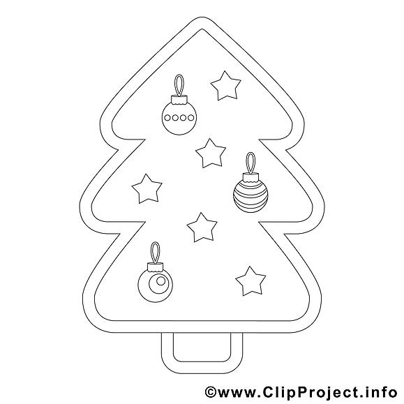 Image sapin – Noël images à colorier