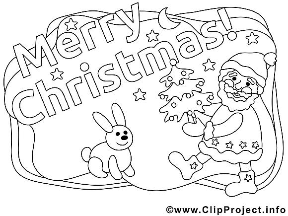 Lapin images – Noël gratuits à imprimer