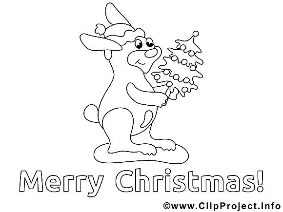 Lièvre illustration – Noël à imprimer
