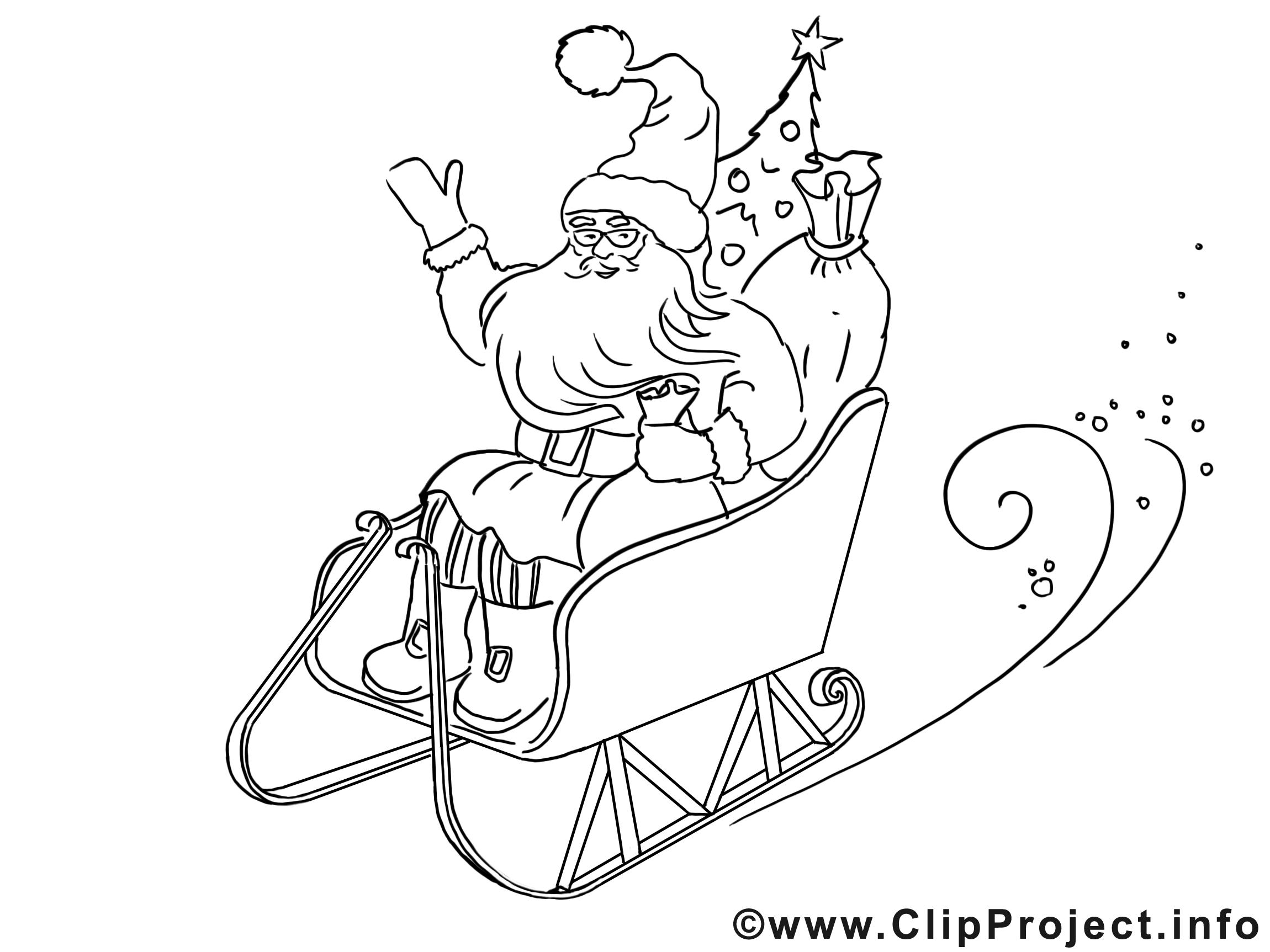 Luges cliparts gratuis – Noël à imprimer