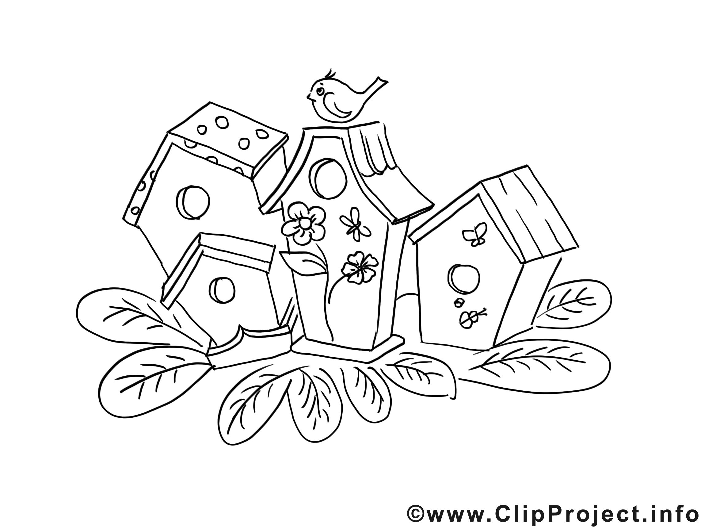 Nichoir images – Noël gratuits à imprimer