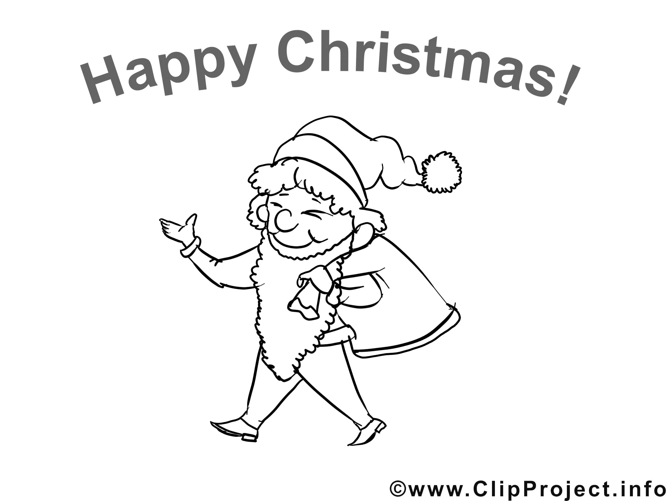Noël clipart gratuit – Noël à colorier