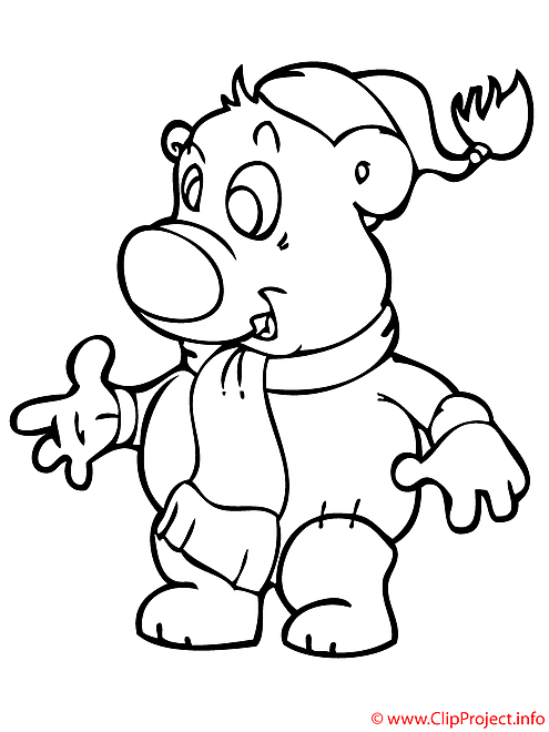 Ours coloriage